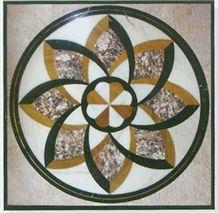 Marble Mosaic Waterjet Medallion