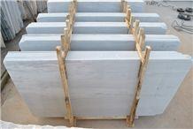 Sikis Argalasti Semi White Marble Slab, Greece Grey Marble