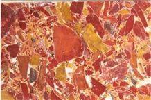 Rossa Levanto, Kongelomera Marble, Red Fossil