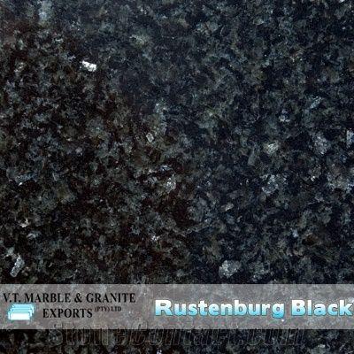 Rustenburg Black Granite Slabs Tiles From South Africa