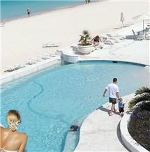 Dominican Classic Coral Stone Pool Coping, Dominican White Coral Stone Pool Deck Pavers
