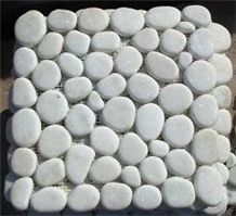 White Marble Pebble Mosaic Tiles