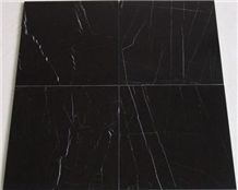 Nero Marquina Marble Tile, Spain Black Marble