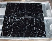 Nero Oriental Marble,China Black Marble,China Marquina,Nero Marquinia Marble Tile & Slab