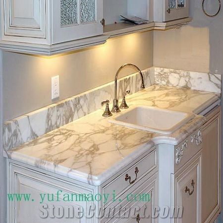 kitchen countertop calacatta oro marble