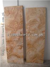 Teak Wood Marble Slabs & Tiles, Pakistan Yellow Marble