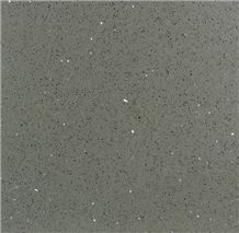 Quartz Stone Of Sparkle Shining Dark Gray Color Used for Floorings in Hotels or Shopping Mall