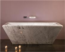 White Marble Bathroom Tubs for Small Spaces