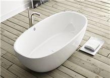 White Marble Revolution Bath Tub