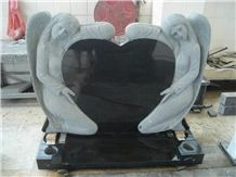 Absolute Black Granite America Style Tombstone, Impala G654 Tombstone Monuments