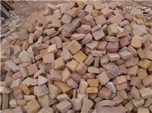 Lalitpur Yellow Sandstone Cobblestone