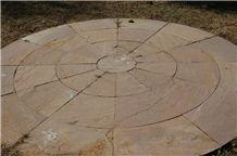 Modak Sandstone Circle Pavers