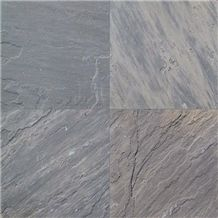 Sagar Black Sandstone Tiles, India Grey Sandstone