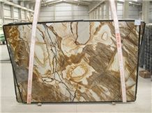 Roma Imperiale Quartzite Slabs & Tiles, Yellow Polished Quartzite Floor Tiles, Wall Tiles