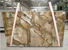 Stone Wood Quartzite Slabs & Tiles, Brazil Yellow Quartzite Floor Tiles, Wall Tiles