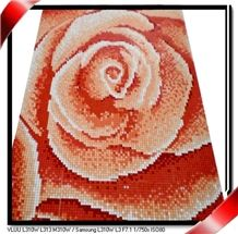 Glass Mosaic Flower Picture