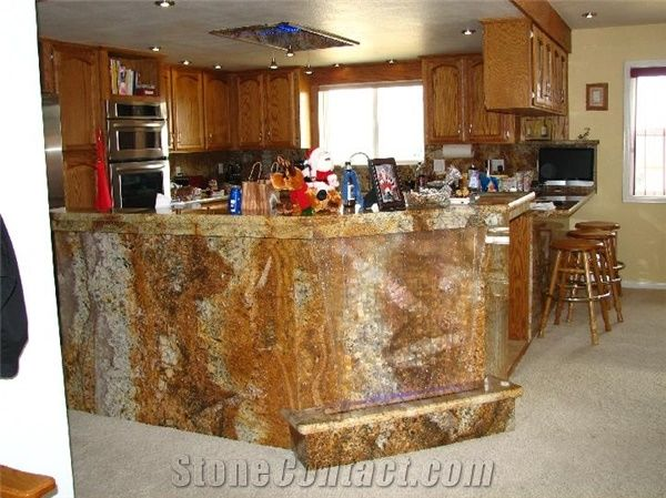 Exotic Gold Yellow Granite Countertops From United States