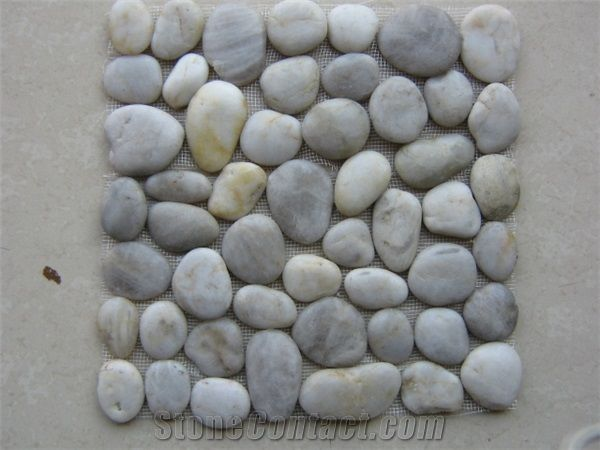 Multi Color Mexican Beach Landscaping River Polished Mixed Stone