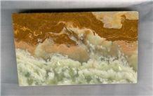 Multicolor Green Onyx Slabs & Tiles