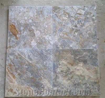 Vietnam Gris Nebula Marble Tile
