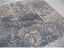 China Brown Limestone Wall Tiles, Brown Limestone Slabs and Flooring