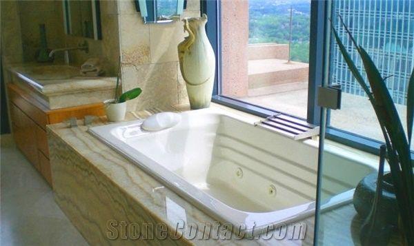 Onyx Pina Bath Tub Surround, Pina Yellow Onyx from United States ...