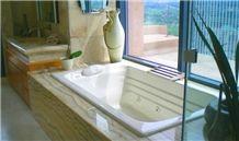 Onyx Pina Bath Tub Surround, Pina Yellow Onyx