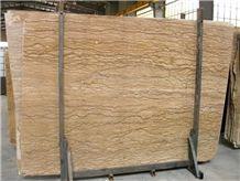 Walnut Travertine Slab,Iran Brown Travertine