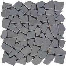 Antique Basalt Mosaic, Grey Basalt Mosaic