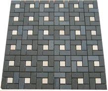 Basalt & Marble Mix Mosaic, Grey Basalt Mosaic