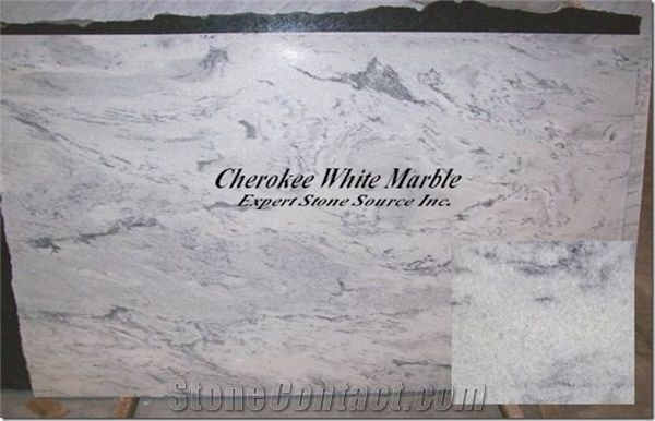 Cherokee White Marble Slab From United States