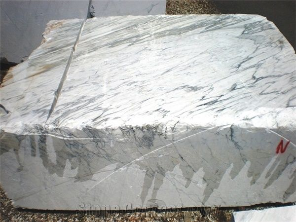 Brand new Bianco Carrara Venato Marble Block from Italy - StoneContact.com ZE42