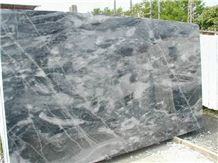 Bardiglio Bluette Marble Slabs, Italy Grey Marble