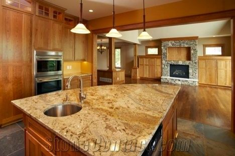 Lapidus Yellow Granite Countertops From United States
