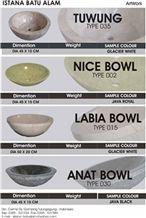 Java Marbles Round Basins, Sinks, Beige Marble