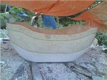 Java Royal Marble Bath Tub 07, Java Royal/Royal Oyster Beige Marble