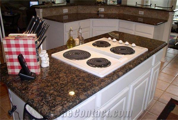 Baltic Brown Granite Countertop Kitchen Island From