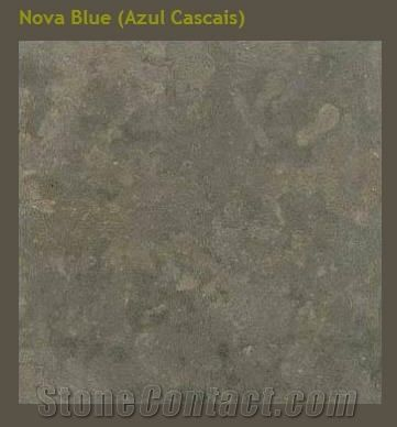 Nova Blue Azul Cascais Limestone Tiles