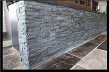 Grey Slate Charcoal Natural Stone Stack Panel