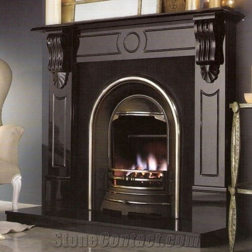 Simple Black Granite Fireplace From China Stonecontact Com