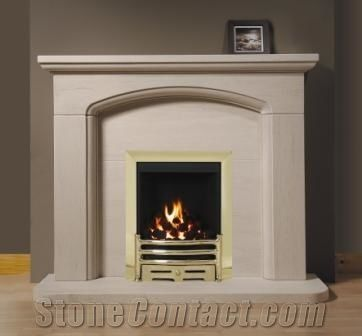 Stone Marble Fireplace Surround Cream Stone Beige Marble