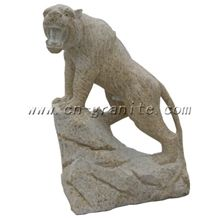 Garden Granite Tiger Statue, Yellow Granite Statue