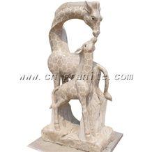 Giraffe Granite Statue, Yellow Granite Statue