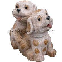 Granite Carving, Dog Sculpture, Dog Statue