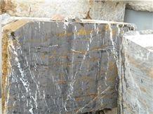 Black Gold Marble Blocks, Pakistan Black Marble