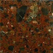 Conglomerate Marble Slabs & Tiles, Iran Brown Marble