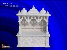 Ambaji White Marble Home Temple