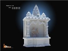 DECORATIVE MARBLE HOME TEMPLE, White Marble Artifacts, Handcrafts