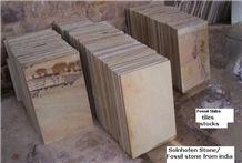 Mint Fossil Sandstone Tile