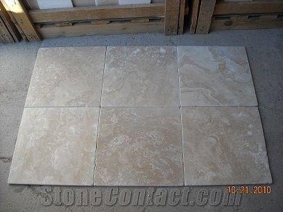 Durango Travertine Tumbled Tiles Mexico Beige Travertine Floor